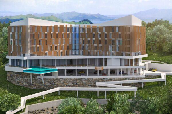 Экстерьерная визуализация отеля